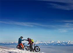 Fat Bike sur le Mont D'Or © Sophie Cousin / CRT Bourgogne-Franche-Comté