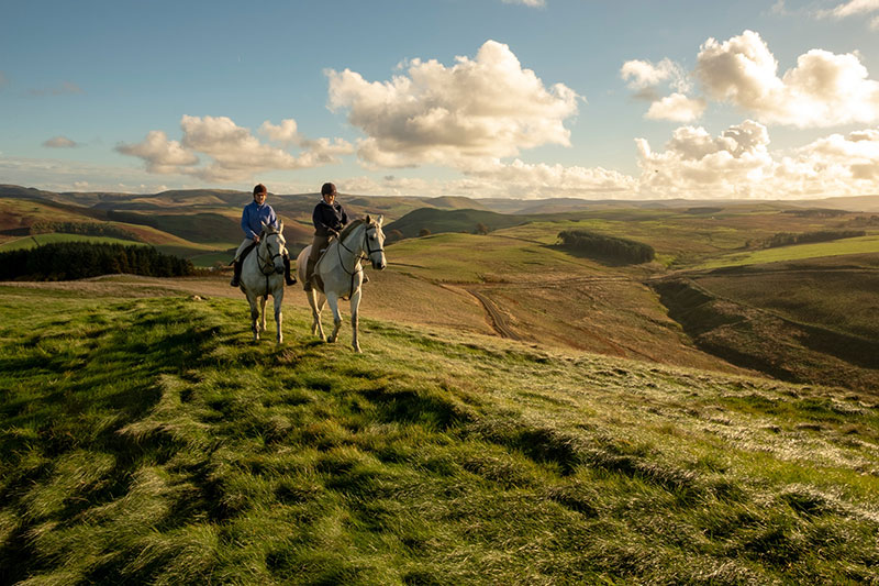 Horse Riding in the Cheviot Hills - DR VisitScotland - David N Anderson
