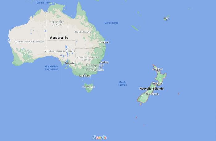 La Nouvelle-Zélande a recensé un 1er cas de contamination depuis plus de 2 mois - Google Maps