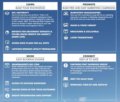 Norwegian Cruise Line lance Norwegian Central une plateforme pour les agents de voyages