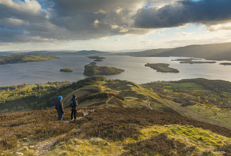 Walkers on Conic Hill - DR VisitScotland - Kenny Lam