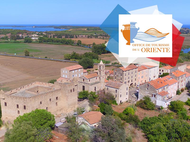 Vue aérienne du Fort de la ville d'Aleria – Oriente  ©orientetourisme