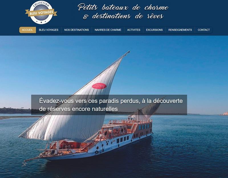 Selectour Bleu Voyages lance sa première collection : une sélection de petits navires de charme, des produits imaginés pour ses clients directs mais aussi via la distribution - DR : Collection Bleu Voyages