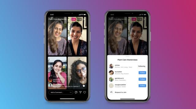 """Avec """"Live Room"""", Instagram permet de faire des lives jusqu'à 4 participants - Crédit photo : Instagram"""