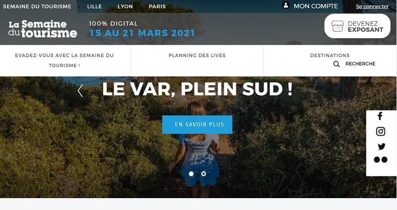 La semaine du tourisme se tiendra du 15 au 21 mars 2021 - DR