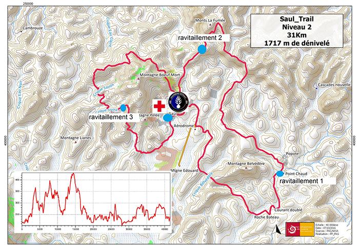 Carte Trail de Saül