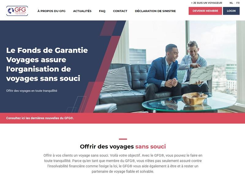 Le Fonds de Garantie Voyages (GFG) a entièrement rénové son site web - DR : GFG.be