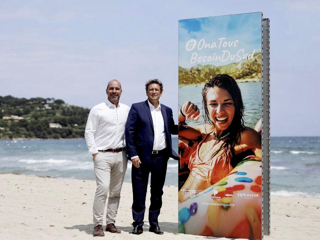 Loïc Chovelon, directeur général et François de Canson, Président du CRT Provence-Alpes-Côte d'Azur et Conseiller Régional de la Région Sud. - DR : CRT PACA