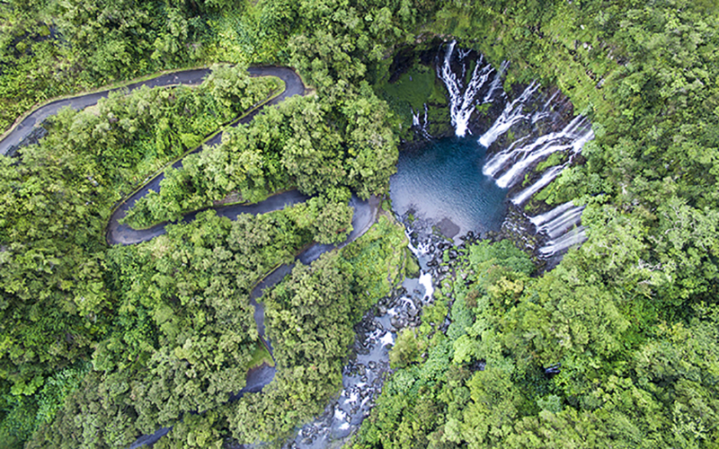 Bassin cascades Grand Galet - © IRT/ Dronecopters