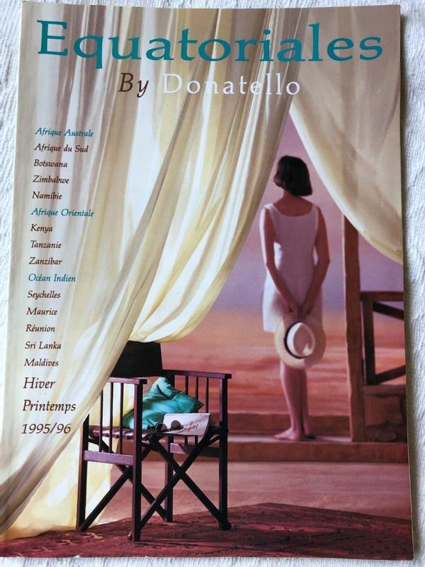 Voici la première brochure d'Equatoriales en 1995, lors de son lancement à Top Resa - DR
