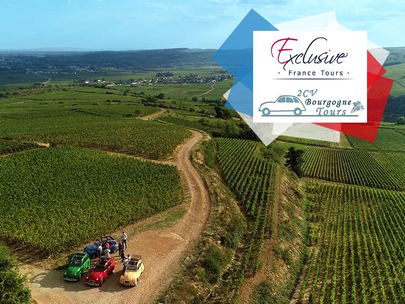 Balade en 2CVs au milieu des vignobles de Bourgogne © 2CV Bourgogne Tours / Exclusive France Tours