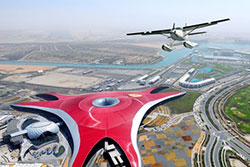 Survol en hydravion du Ferrari World © Abu Dhabi Department of Culture and Tourism