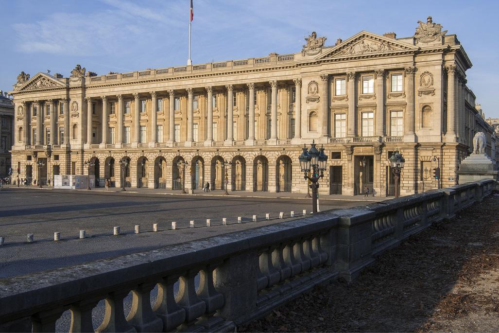 L'Hôtel de la Marine, place de la Concorde, à Paris ouvrira à la visite fin avril 2021 si la situation sanitaire le permet. – DR : J-P. Delagarde-CMN
