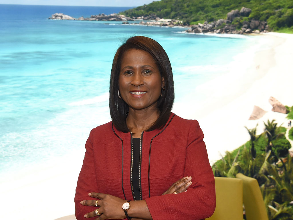 """Bernadette Willemin: """"Our priority is to let people know tIs to let people know that Seychelles is open to visitors from all over the world""""- /picture Seychel"""