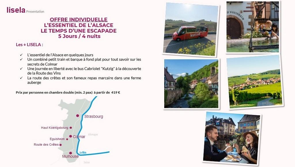A bord du Kut'zig, bus cabriolet, découvrez de façon insolite le coeur de la Route des Vins d'Alsace. – DR :Lisela/LK Tours