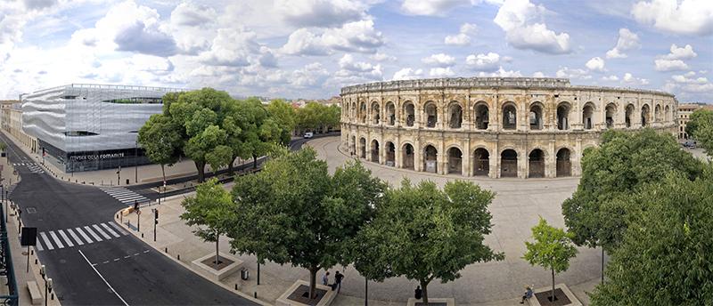 Arènes et Musée de la Romanité © Stéphane Ramillon - Ville de Nîmes