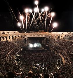 Concert aux Arènes de Nimes © Eric Canto