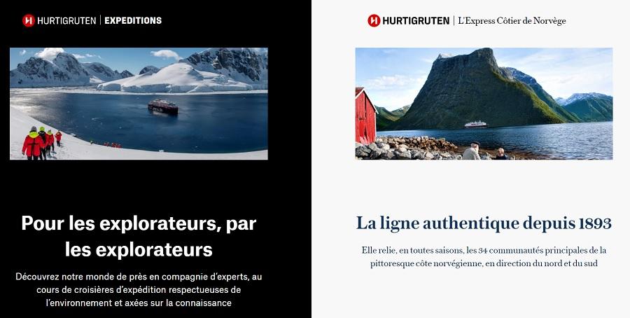 """""""Hurtigruten Expéditions"""" et """"Hurtigruten - l'Express Côtier de Norvège"""" sont deux entités distinctes l'une de l'autre - DR"""