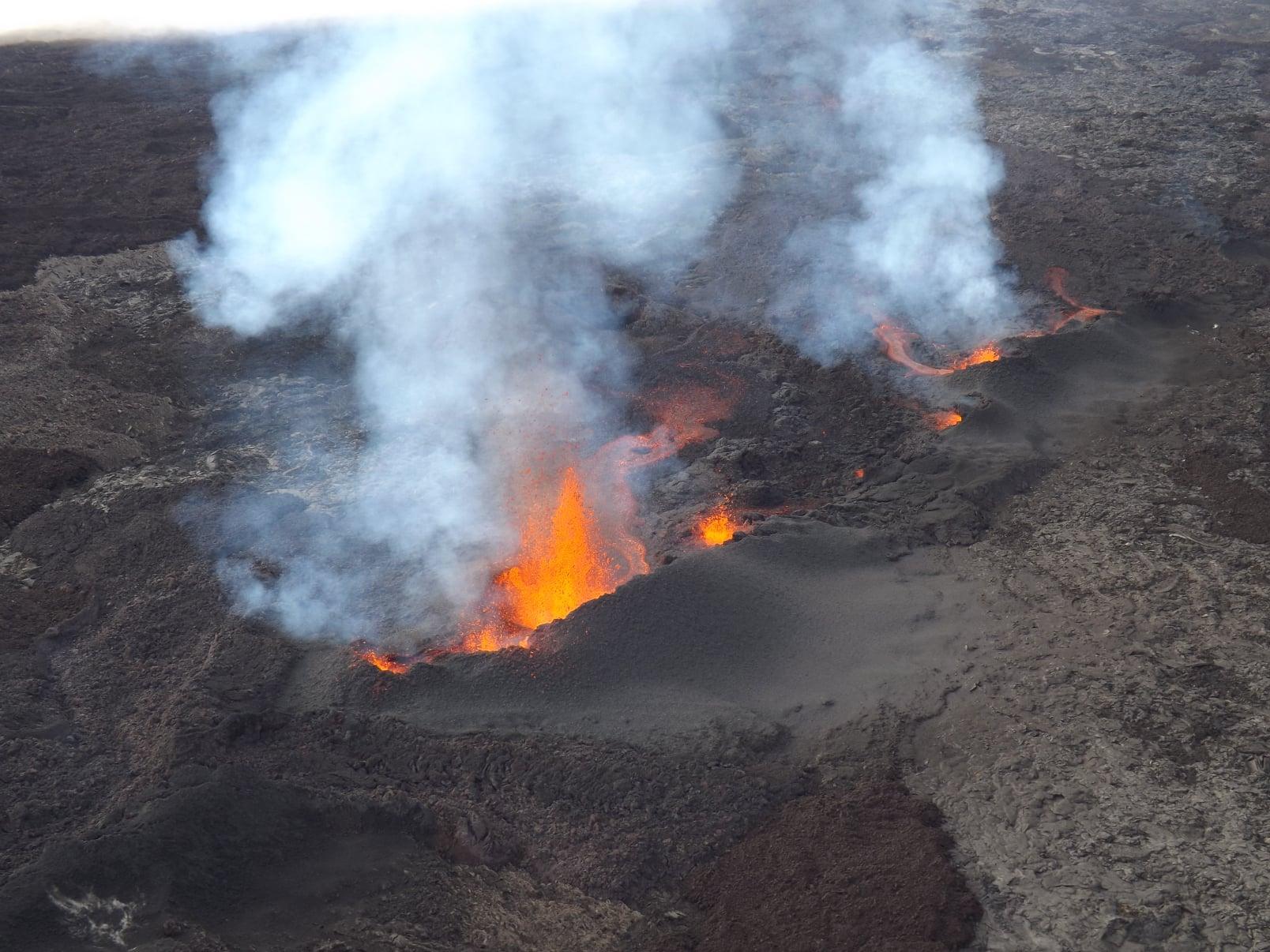 D'après les enregistrements de l'Observatoire Volcanique, la crise sismique a débuté vendredi 9 avril 2021 vers 15h00 et sa source est localisée sur le flanc sud du volcan à l'intérieur de l'Enclos. - ©OVPF-IPGP
