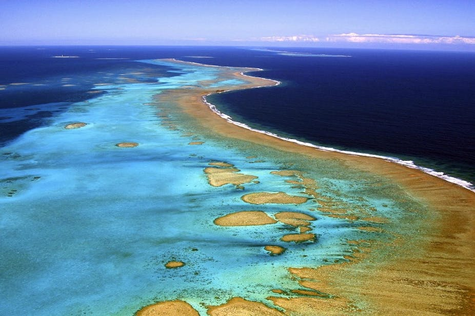 La barrière de corail de Nouvelle-Calédonie, un écosystème fragile inscrit depuis 2008 au patrimoine mondial de l'humanité de l'Unesco. MARC LE CHELARD / AFP