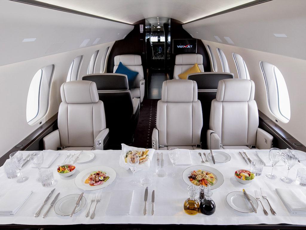 A bord de l'un des Bombardier Global 7500 que VistaJet vient de recevoir © VistaJet
