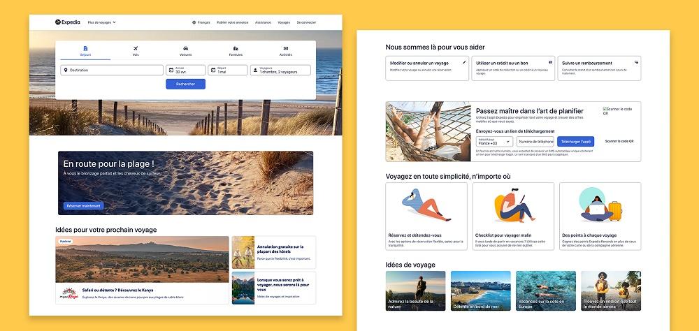 Expedia annonce par la même occasion une nouvelle offre de forfait (vols + hébergement + activités) - DR