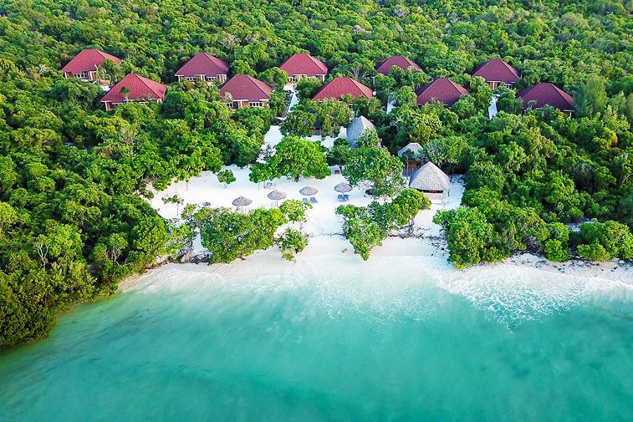 Vue du Ôclub Zen Pearl Beach and spa 4*à Zanzibar - ÔClub