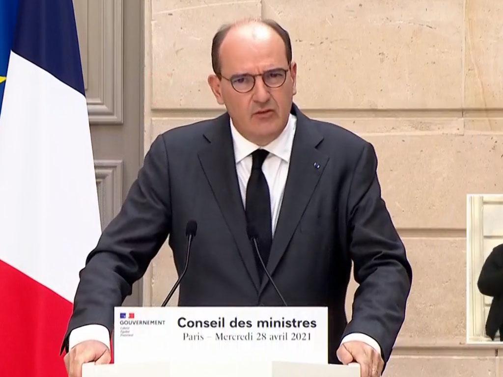 Conférence de presse de Jean Castex à l'issue du Conseil des Ministres ce mercredi 28 avril 2021 - DR