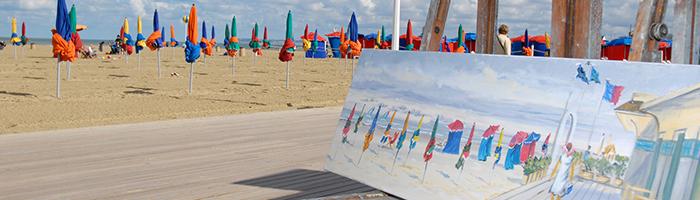Plage Deauville et Impressionnisme © Patrice Le Bris