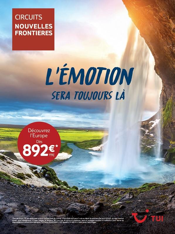 """La campagne """"L'émotion sera toujours là"""" pour les circuits et autotours Nouvelles Frontières est actuellement présente dans les vitrines des 200 agences mandataires - DR : TUI France"""
