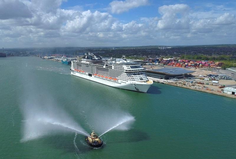Le MSC Virtuosa, arrivé à Southampton, démarrera ses opérations au Royaume-Uni dès le 20 mai - DR : MSC Cruises, Blue Harbour