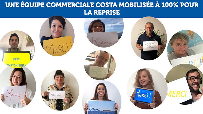 L'équipe commerciale Costa Croisières