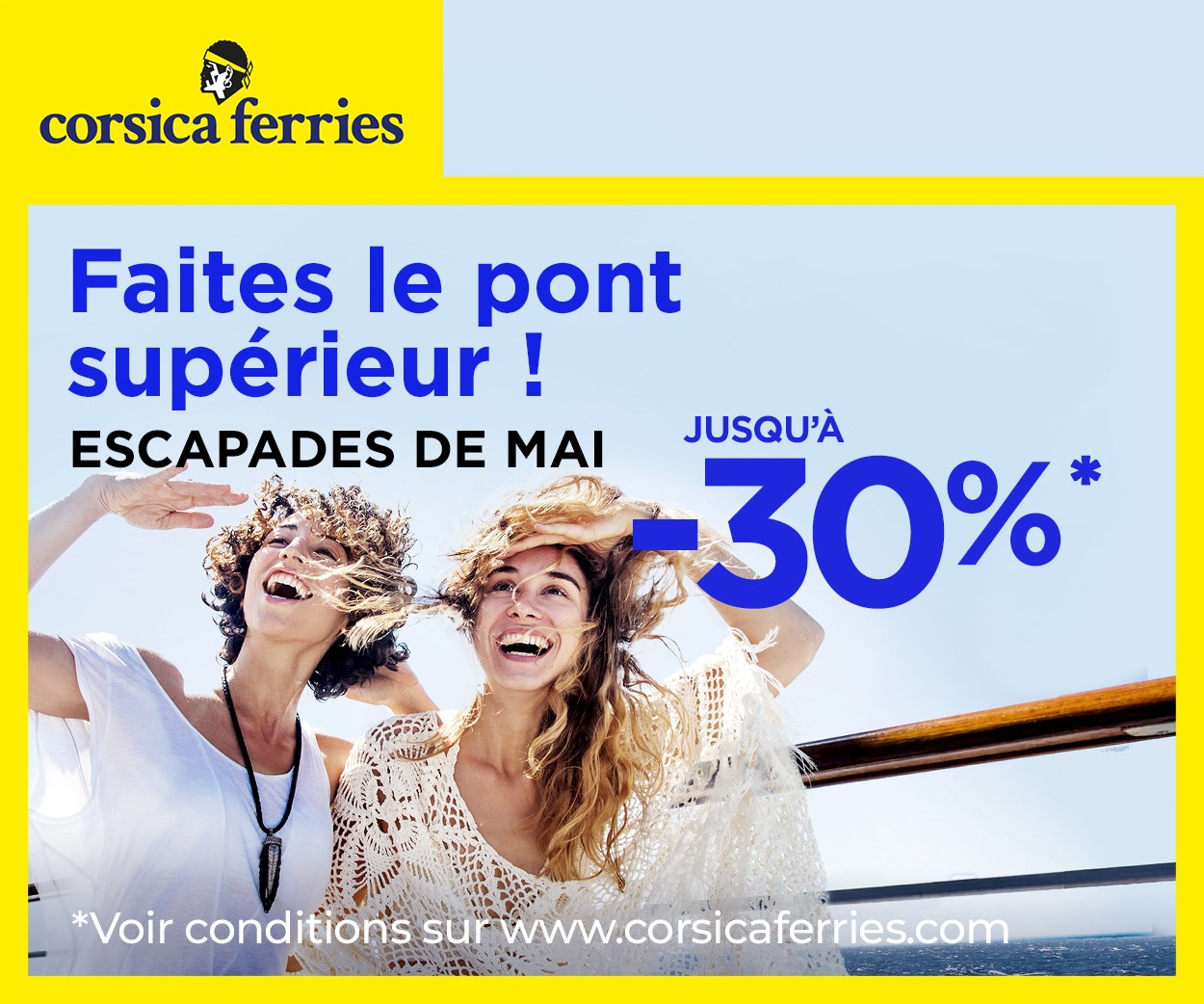 Corsica Ferries vous permet de profiter des ponts du mois de mai - DR
