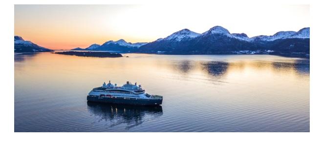 Le Commandant Charcot, navire hybride électrique propulsé au gaz naturel liquéfié va prochainement rejoindre la flotte de Ponant - DR