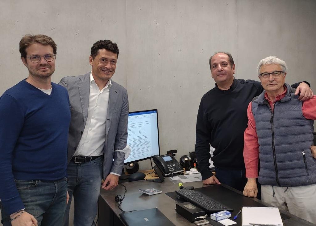 De gauche à droite : Pierre-François Verbecque & Laurent La Rocca, the Treep / Philippe Taieb & Christian Mousnier, Jancarthier Voyages.