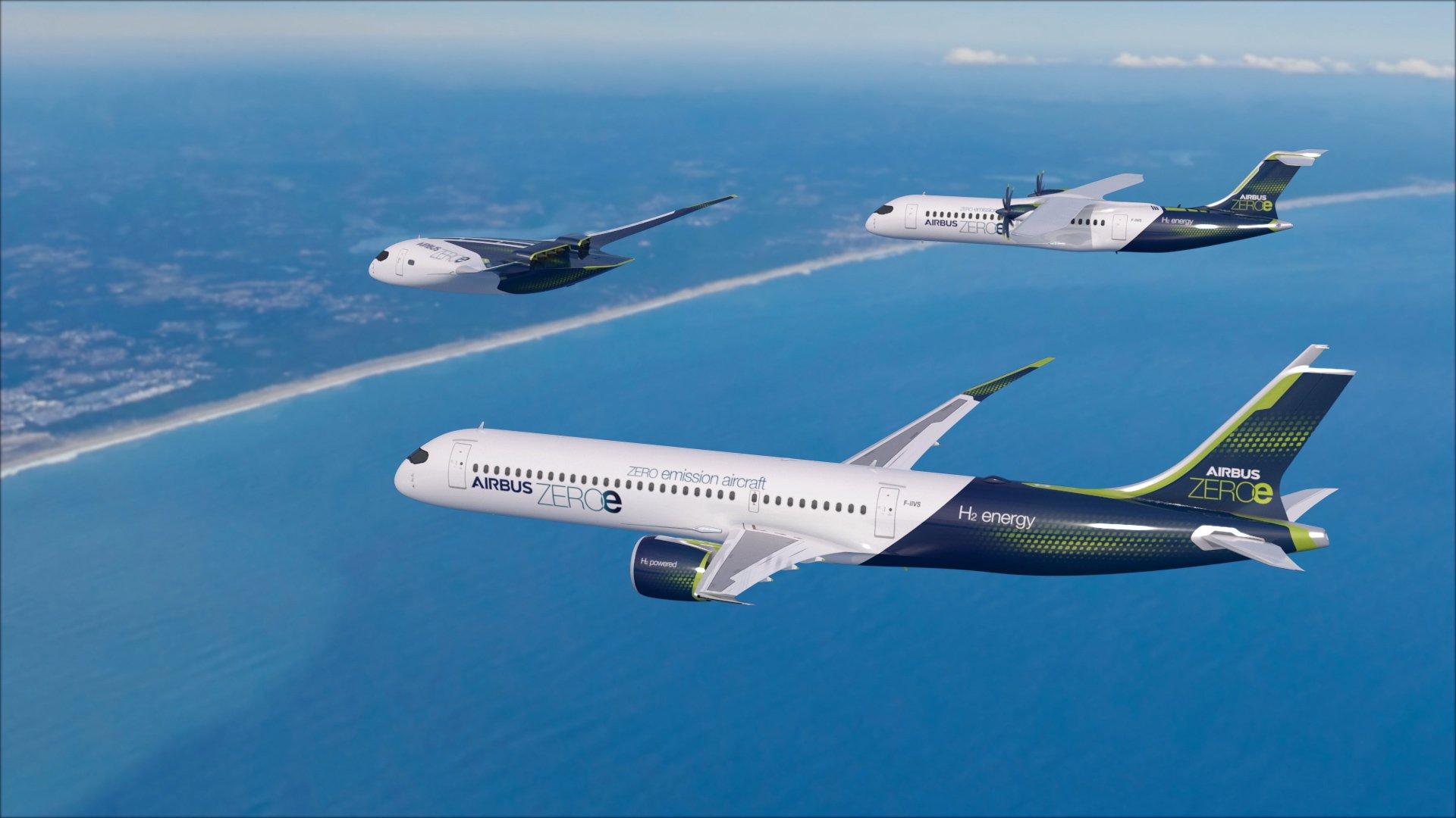 Airbus a prévu de fabriquer un avion à hydrogène pour l'horizon 2035 - DR AIRBUS