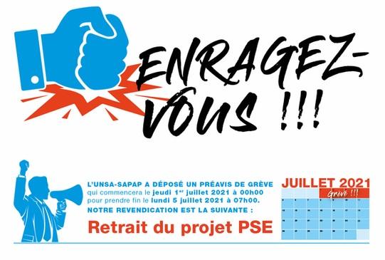 Le communiqué de l'UNSA SAPAP sur le préavis de grève déposé du 1er au 5 juillet 2021 - DR