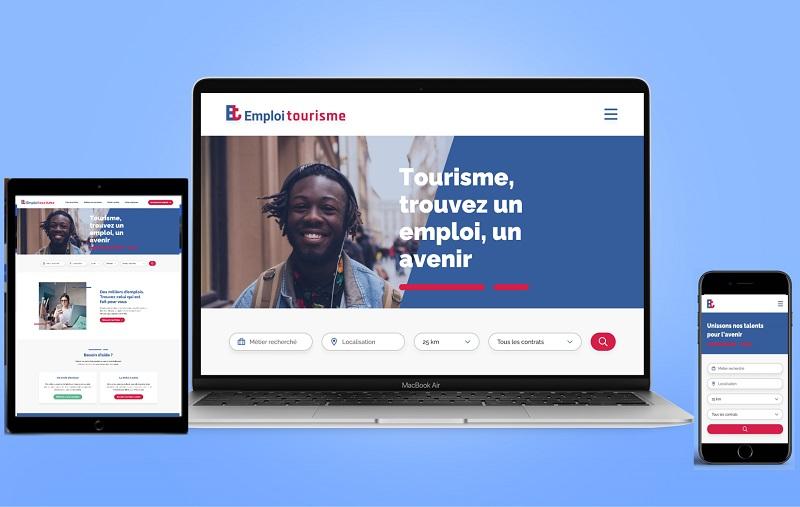 Plus de 50 000 emplois à pourvoir immédiatement dans le secteur, 90 fiches métiers détaillées, 150 parcours de carrières proposés au sein de la filière sont déjà disponible sur le site - DR : Emploi Tourisme