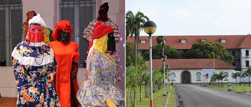 © GEK Cayenne_exposition costumes des touloulous / © JEH Musée du carnaval Jean Martial