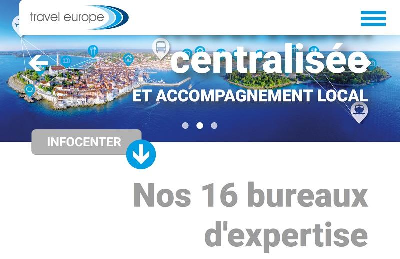 Travel Europe optimise la navigation sur son site Internet