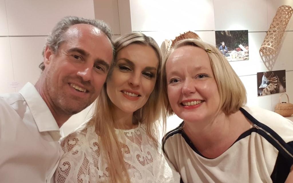 Guillaume Linton avec Anne Tuffigo et Tanja Duhamel  /crédit dr