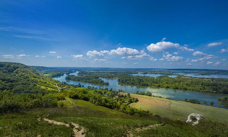 Panorama en vallée de Seine © ADT de l'Eure, J.F. Lange