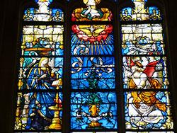 Eglise St Ouen - vitrail de l'Annonciation © Thérèse Aubreton