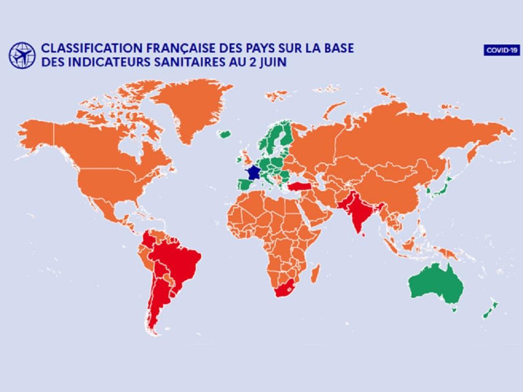 La Turquie passe de rouge à orange, les USA et le Canada dans la liste des pays verts - Crédit photo : Gouvernement
