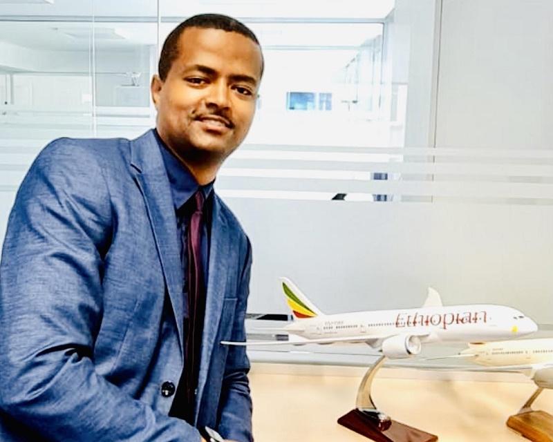 """Nebiat H-Michael : """"Actuellement nous opérons des vols quotidiens depuis Paris CDG en Airbus 350 ultramodernes et trois vols par semaine vers Marseille en Boeing 787"""" - DR : Ethiopian Airlines"""