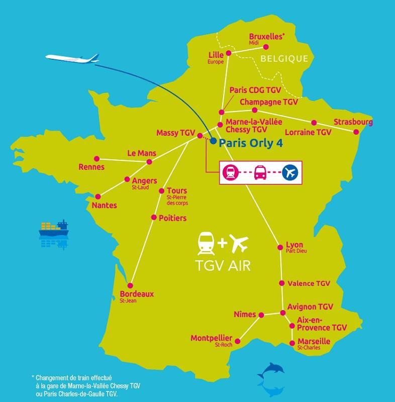 """Air France et SNCF ajoutent 7 liaisons """"Train + Air"""" - DR : Air Caraïbes"""