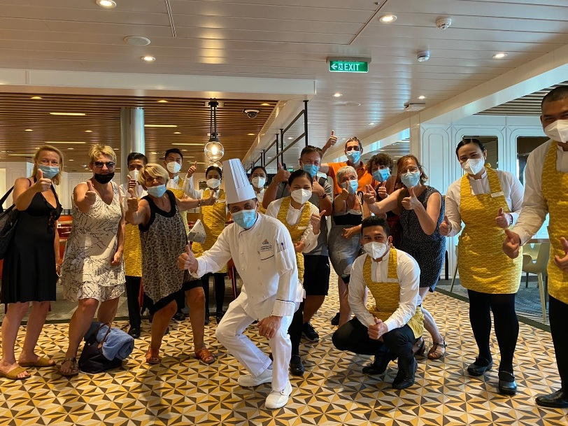 Les membres du CEDIV lors d'une croisière Costa Croisières - DR