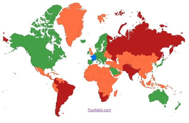 """Dans un décret ministériel 10 destinations sont considérées comme """"pays verts"""" par le gouvernement - Crédit photo : Tourmag"""
