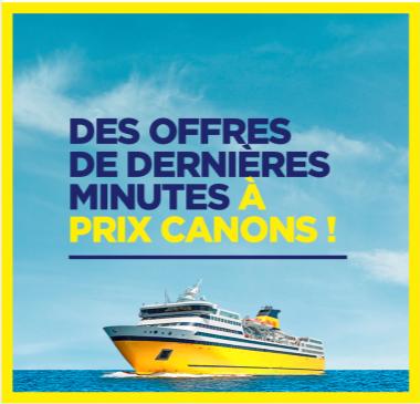 Corsica Ferries lance des offres de dernières minutes - DR