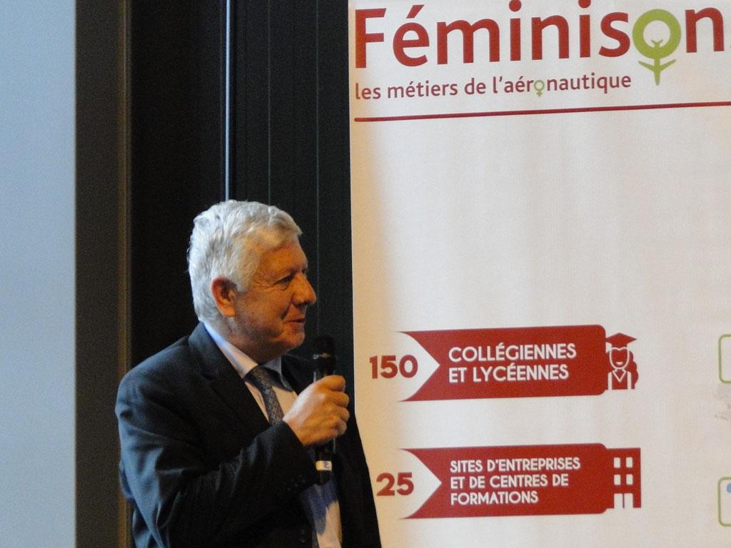 """G. Daher, délégué général FNAM : """"Sur certains métiers comme mécanicien, le taux est encore faible et pourtant, pas besoin d'avoir des gros biscotos pour réparer un avion"""" - DR : C.H."""